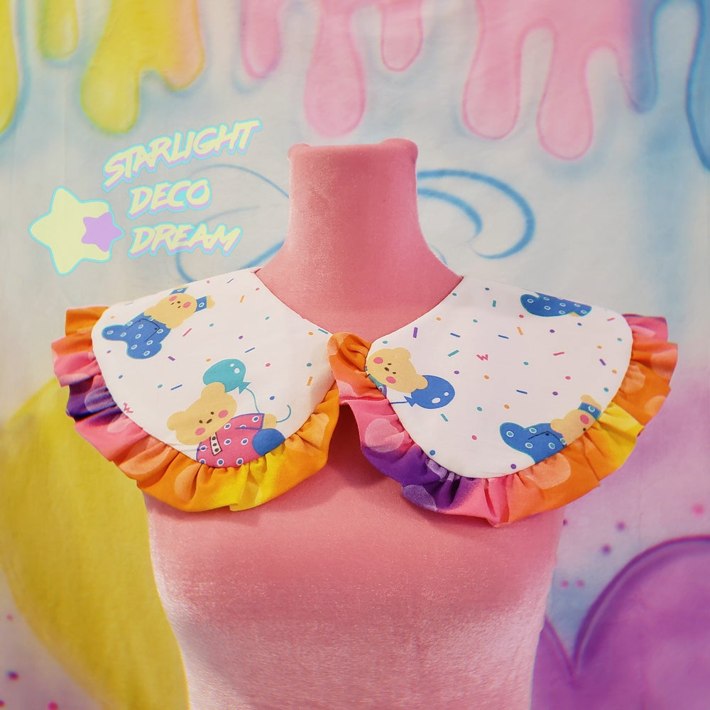 Image of PJ Party Bears Detachable and Reversible Collar / A