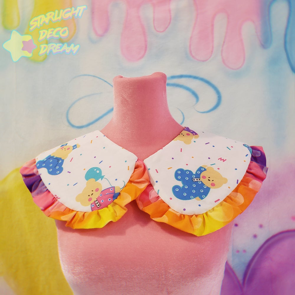 Image of PJ Party Bears Detachable and Reversible Collar / D