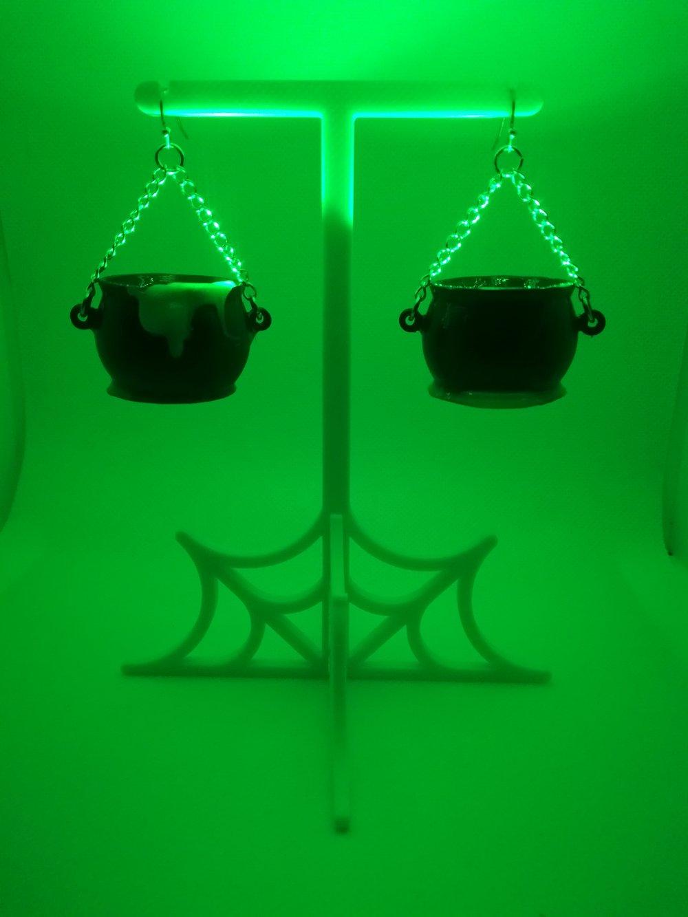 Black Cauldron Earrings