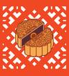 Mooncake Enamel Pin