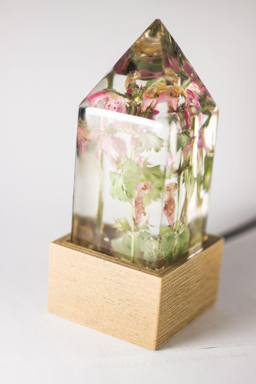 Image of Deadnettle (Lamium maculatum) - Floral Night-Light #2