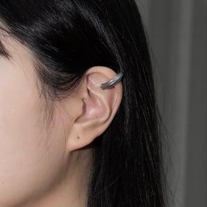 Image of DRILLING LAB - Framework Ear Cuff (Matte Silver)