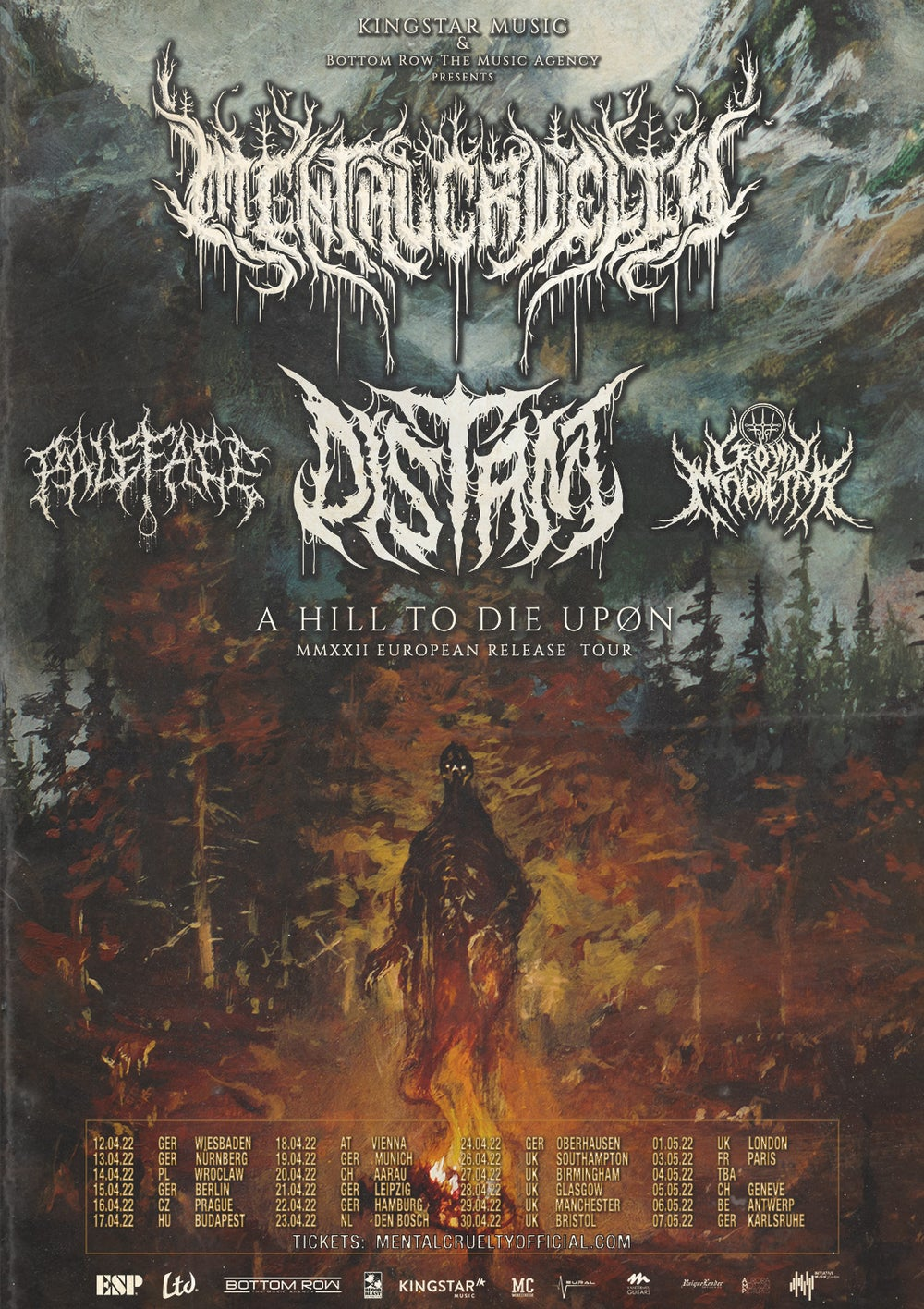 """Image of """"A HILL TO DIE UPON"""" EUROPEAN TOUR TICKET BUNDLE"""