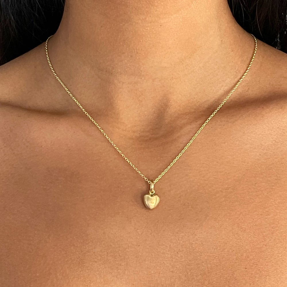 """Image of 18K Solid Gold Heart on 20"""" Chain with Toggle"""