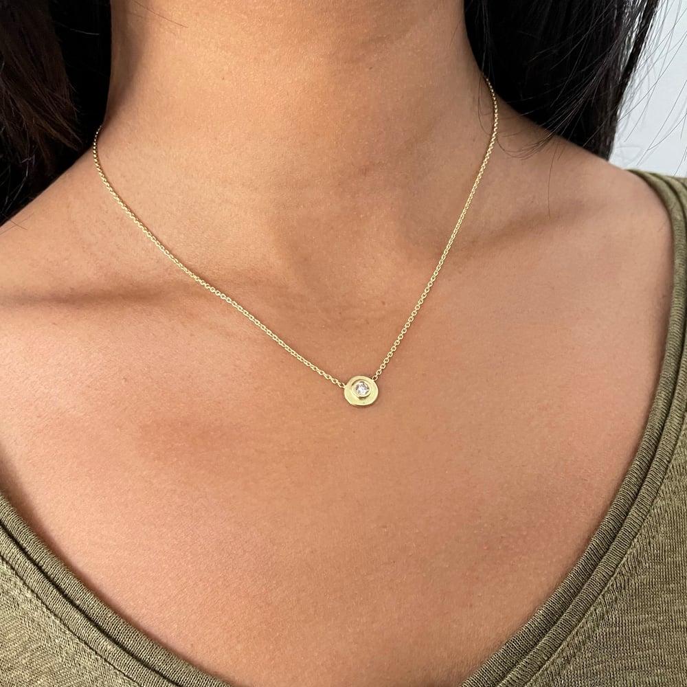 Image of Single Diamond Necklace