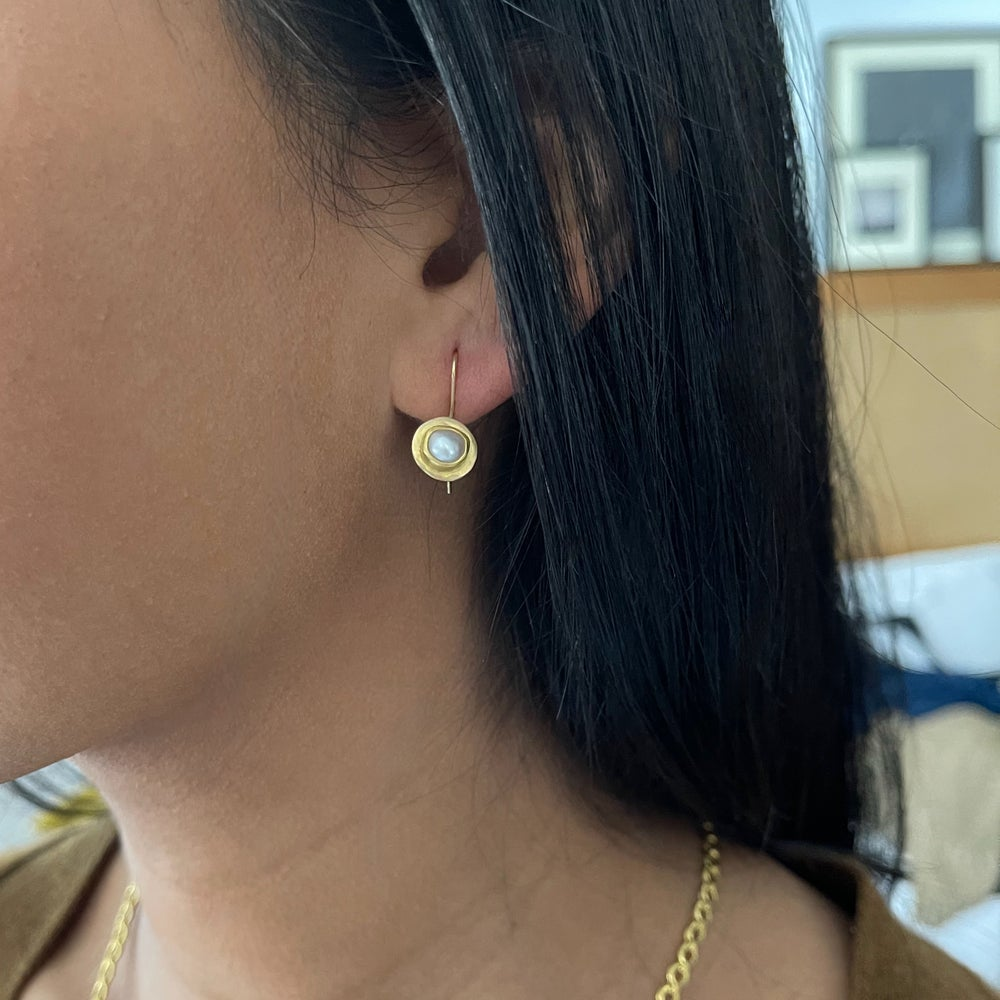 Image of Hooked Pearl Earrings