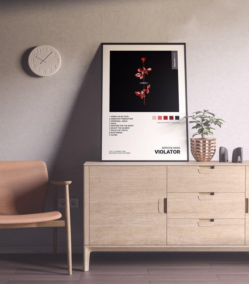 Depeche Mode - Violator Album Cover Poster