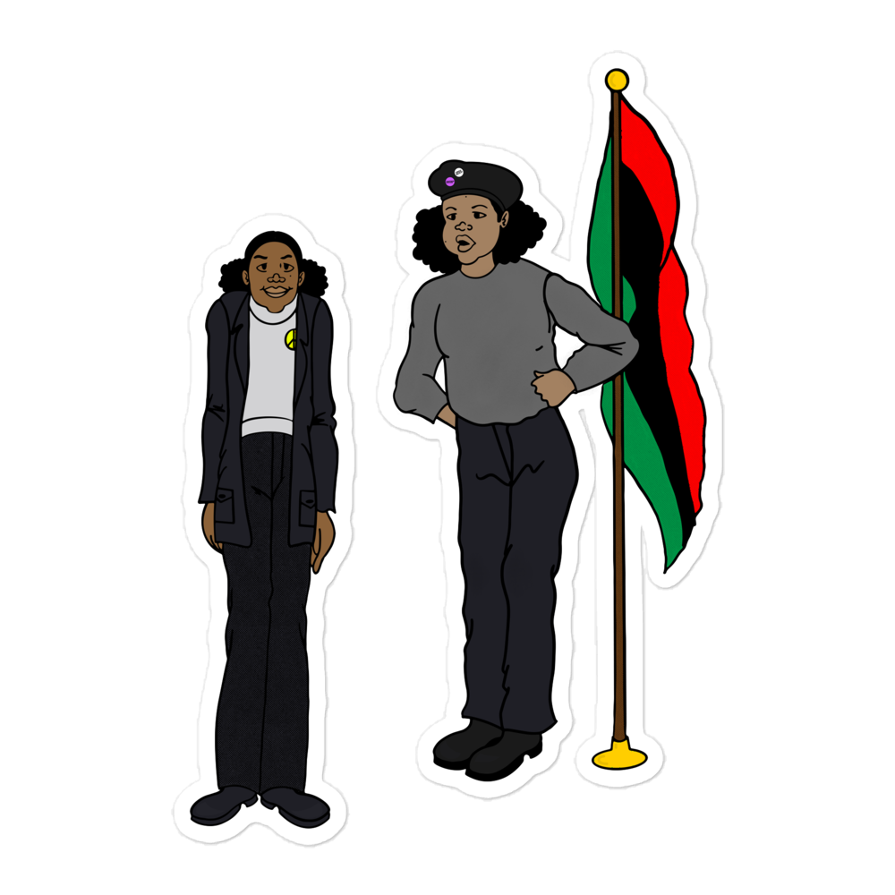 Image of Panther Sisters 5.5 inch sticker