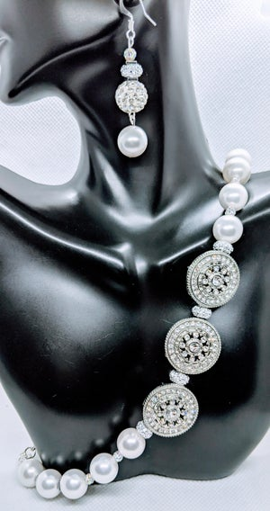 """Original Coated White Shells Necklace Set""""  Enter DISCOUNT CODE: STONES29 at check out!"""