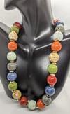 "Original ""Colorful Ceramic Balls Necklace Set"""