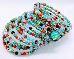 "Original ""Multiple Colorful Wrap Crystal Bracelet""  Enter DISCOUNT CODE: STONES29 at check out!"