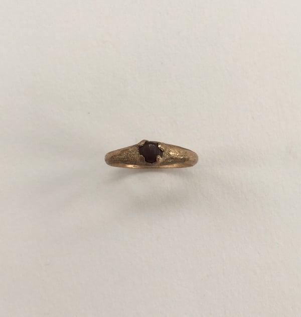 Image of Pebble Ring on Plain Band Medium