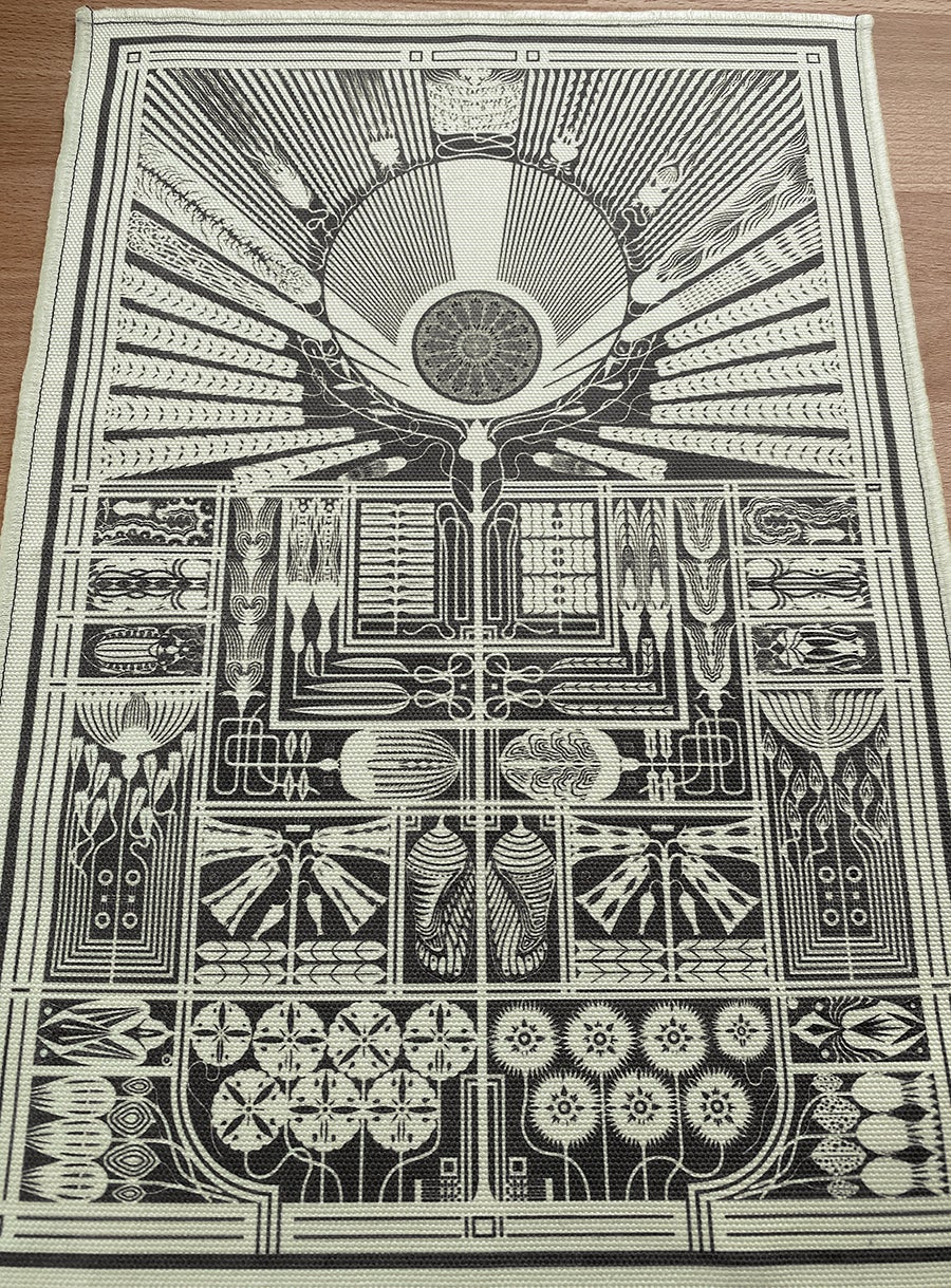 Image of 'A Living Temple' - Cotton Fabric Print