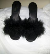 Image of Fuzzy Feather Nightgown Slippers