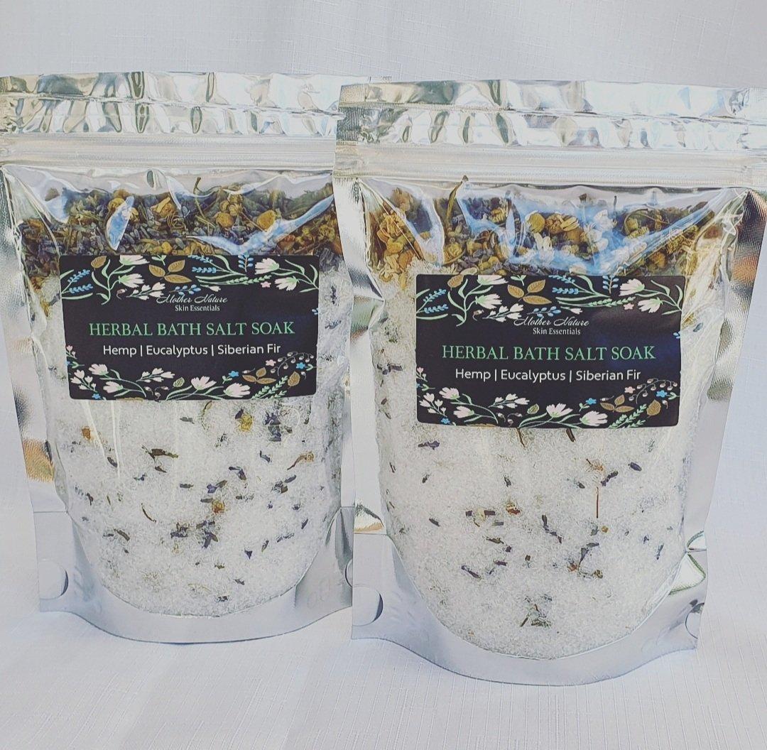 Image of HEMP BATH Salt Soak | Herbal Bath Salts