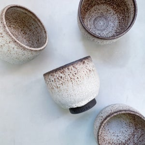 Image of Spotted white cup // medium