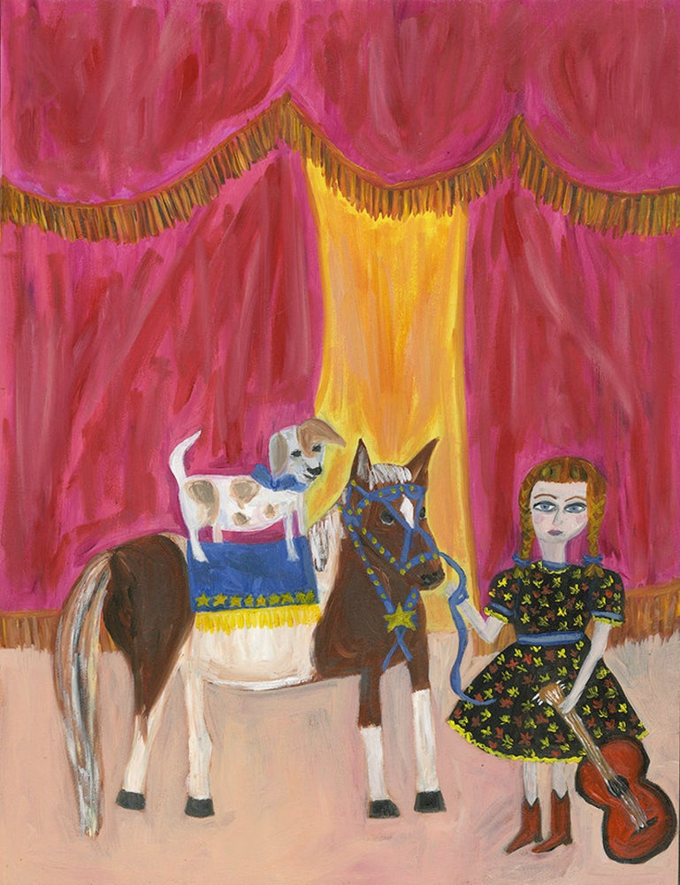 Image of Hazel June's dog and pony show. Limited edition print
