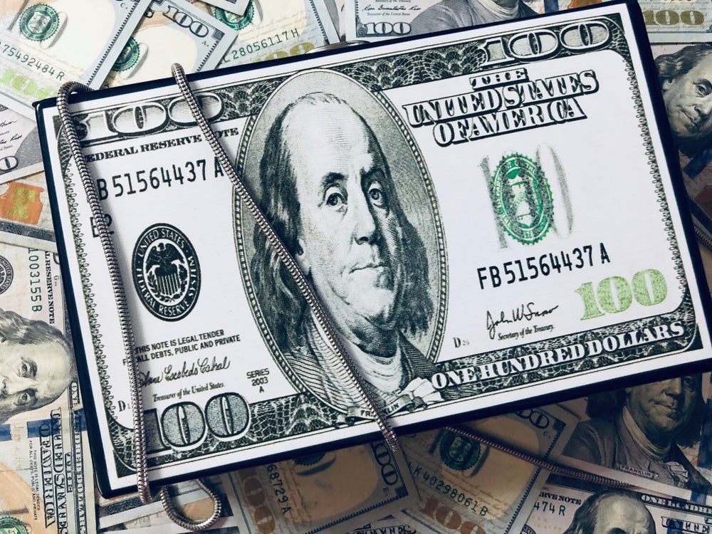 Image of  Hundred Dollar Bill Clutch