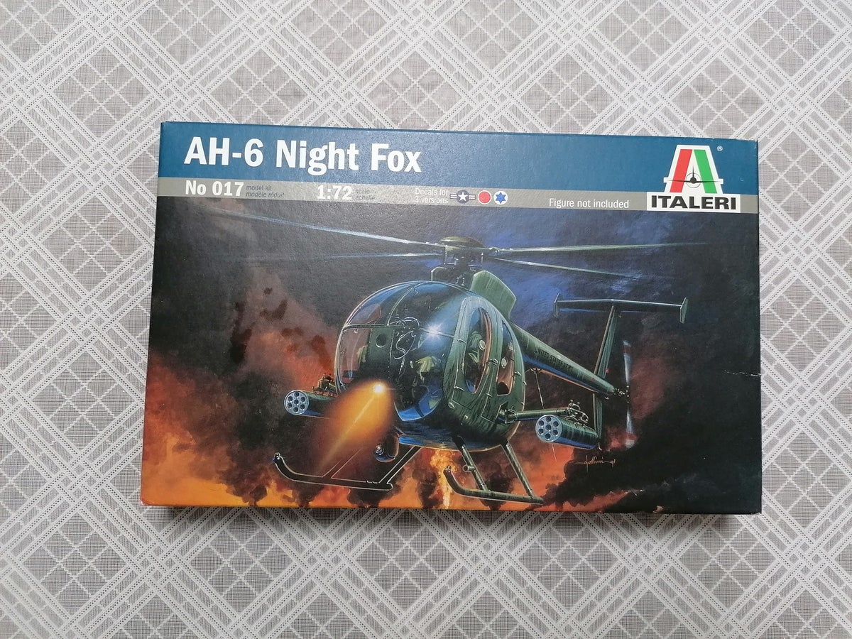 Image of ITALERI 1/72 AH-6 NIGHT FOX 017