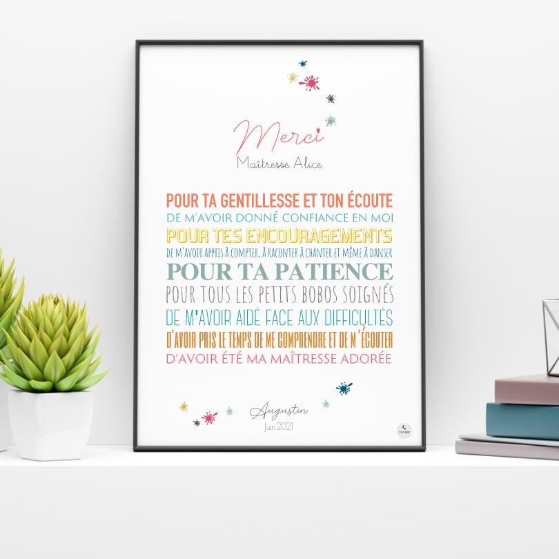 Image of Merci Maîtresse / Tâches d'encre