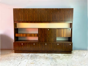 Image of 1970's mid century very large rosewood wall unit (width 2.5M)