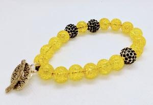 "Original ""Yellow Quartz Crackle Beads Stretch Bracelet"" Enter DISCOUNT CODE: STONES29 at check out!"
