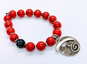 "Original ""Magnesite Red Beads Stretch Bracelet""  Enter DISCOUNT CODE: STONES29 at check out!"