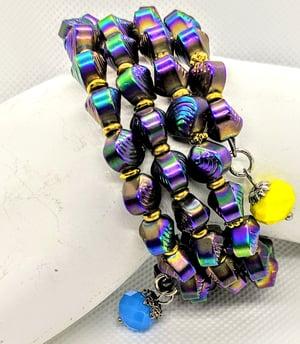 "Original "" iridescent Shells Wrap Bracelet"" Enter DISCOUNT CODE: STONES29 at check out!"