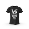 (PREORDER) 7:47 Not An Airplane Just The Time T-Shirt - Black