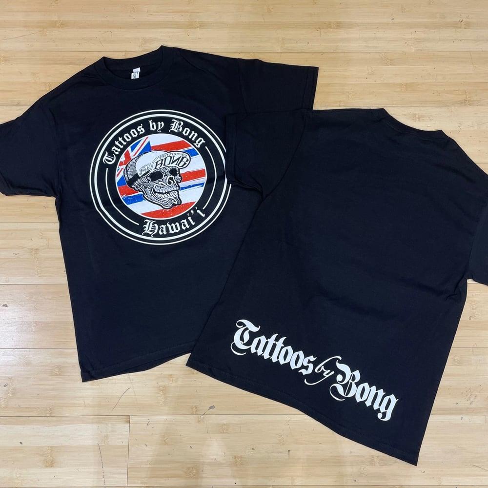 Image of Flag Tattoos by Bong Men's T-Shirt