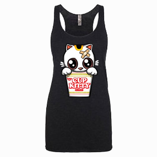 Image of Cup Kitty Racerback Tank (for pick up only at From the Heart in Honolulu)