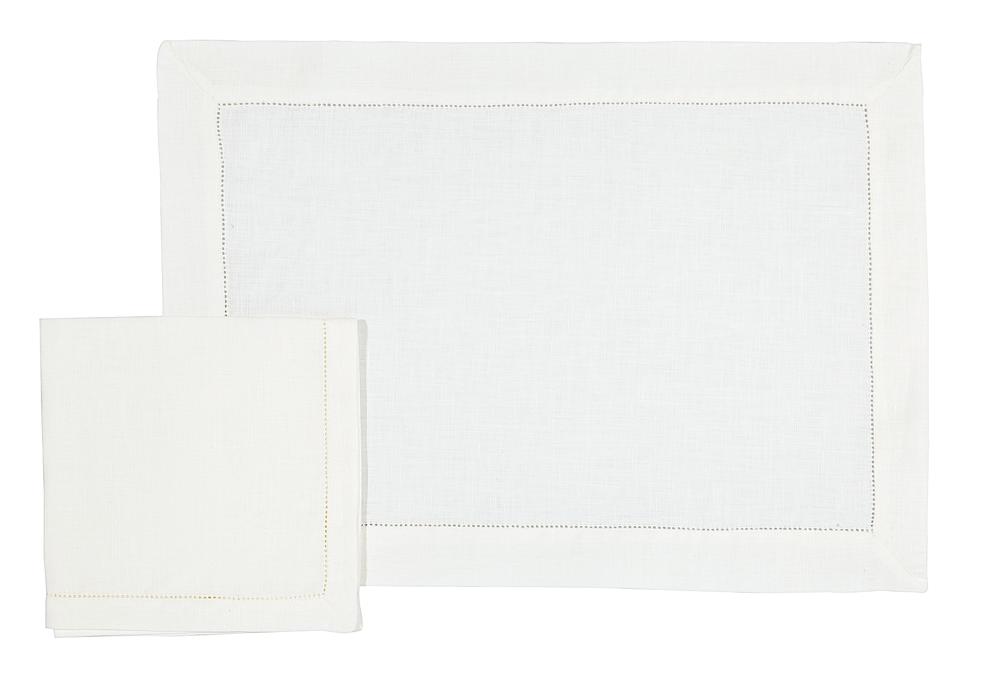 Image of Set tovaglietta americana e tovagliolo À Jour/  À Jour placemat and napkin set