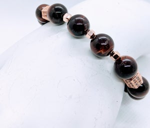 """Original """" Red Tiger's Eye Stretch Bracelet"""" Enter DISCOUNT CODE: STONES29 at check out!"""