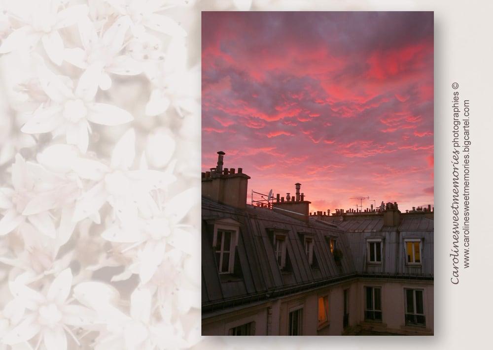 Image of Sunset parisien | carte postale
