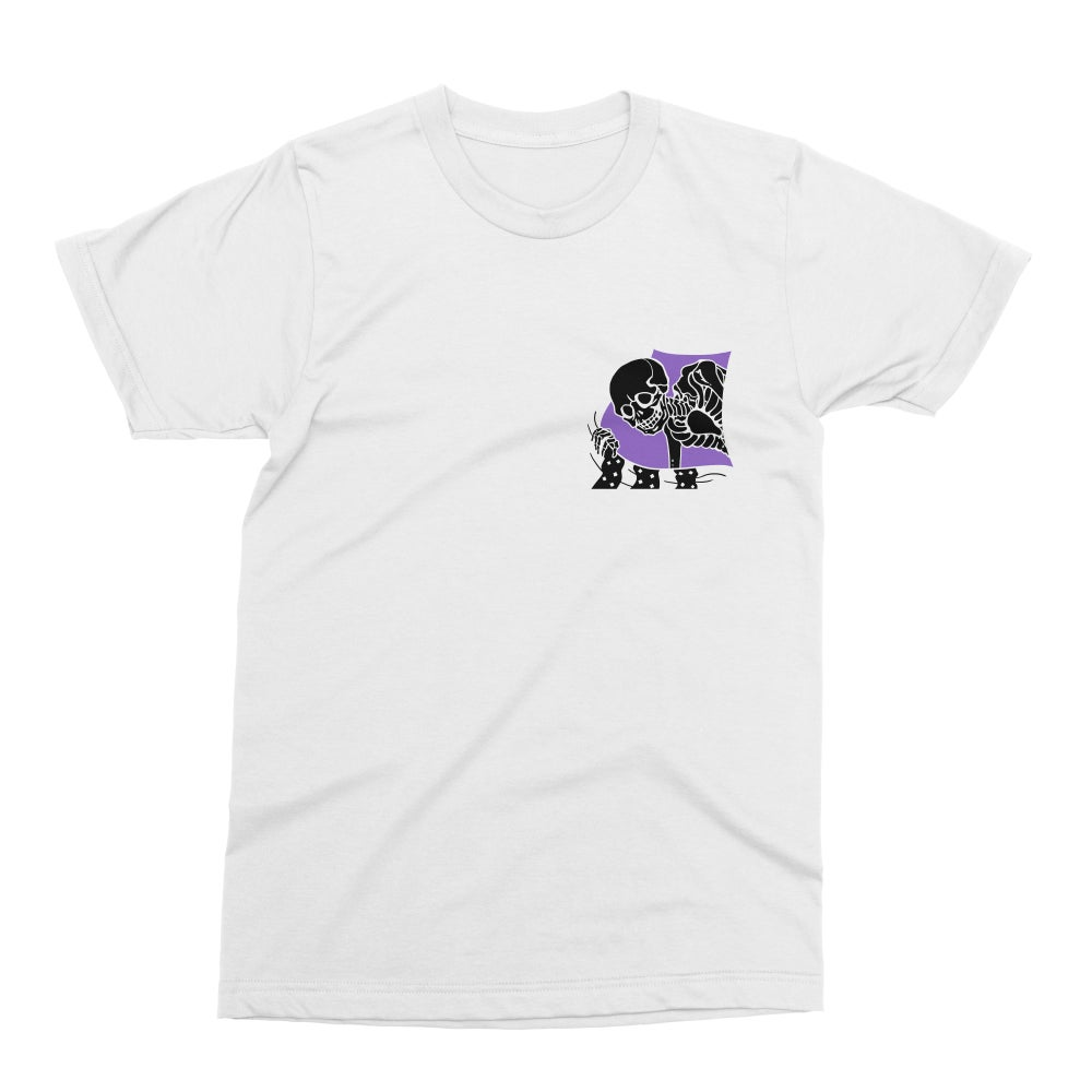 DEATH BY ROLL-UP 'PEEPING HELL' WHITE DOUBLE-SIDED TEE [PRE-ORDER]