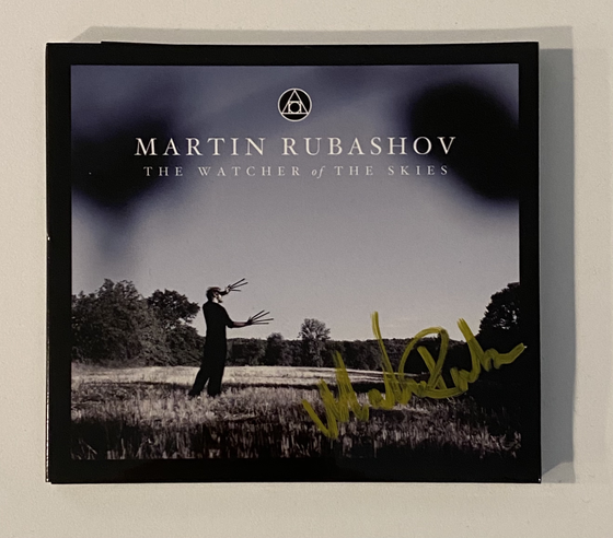Image of MARTIN RUBASHOV - THE WATCHER OF THE SKIES (CD) SIGNED