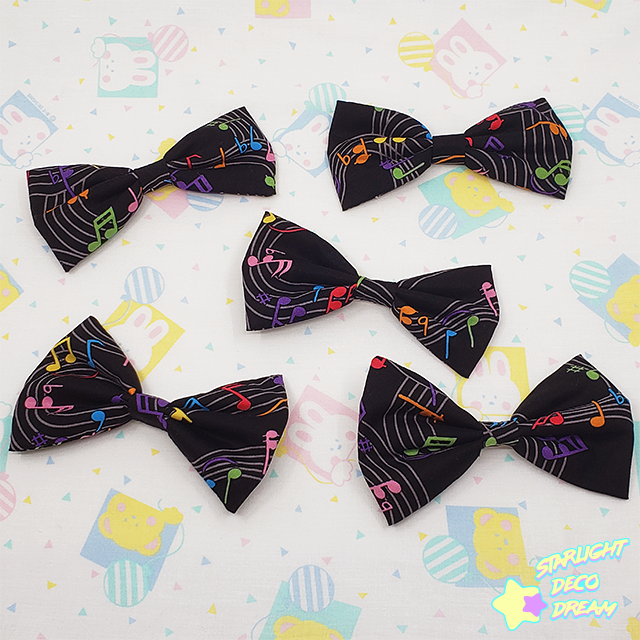 Image of CHOOSE ONE Music Note 🎵 Black Hair Bow Hair Clip