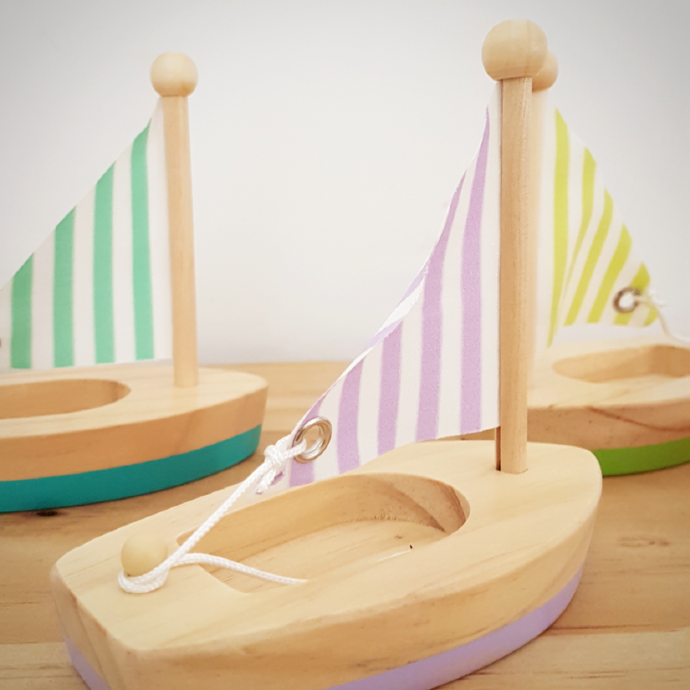 Image of Wooden Sail Boat