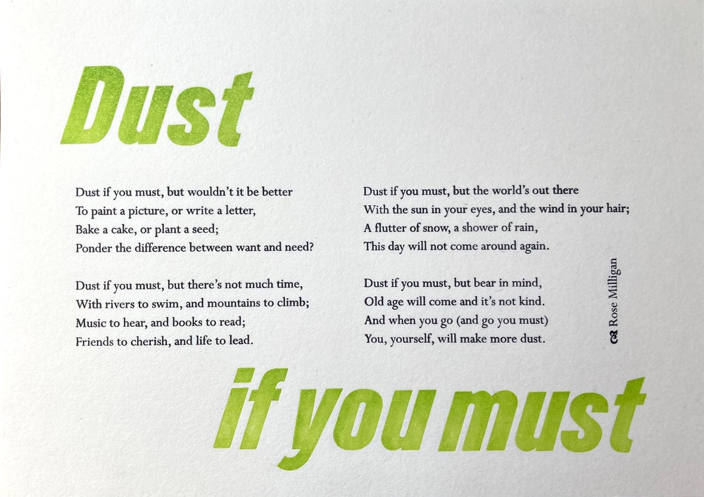 Image of Dust if you must