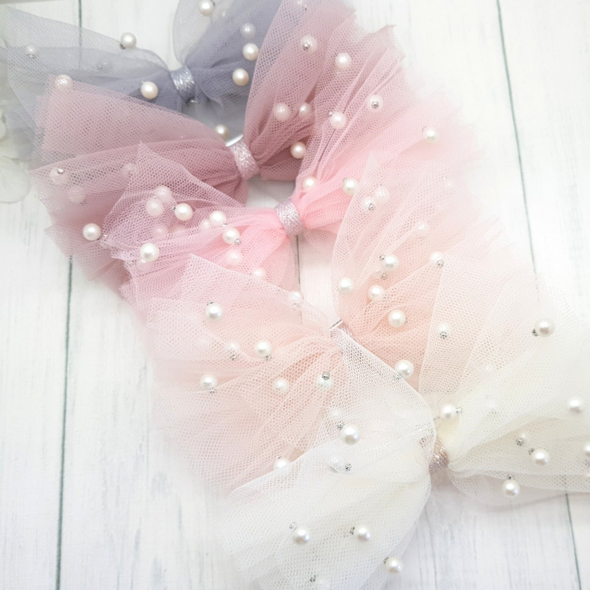 Image of Pretty Tulle Bows - Choice of 5 Colours