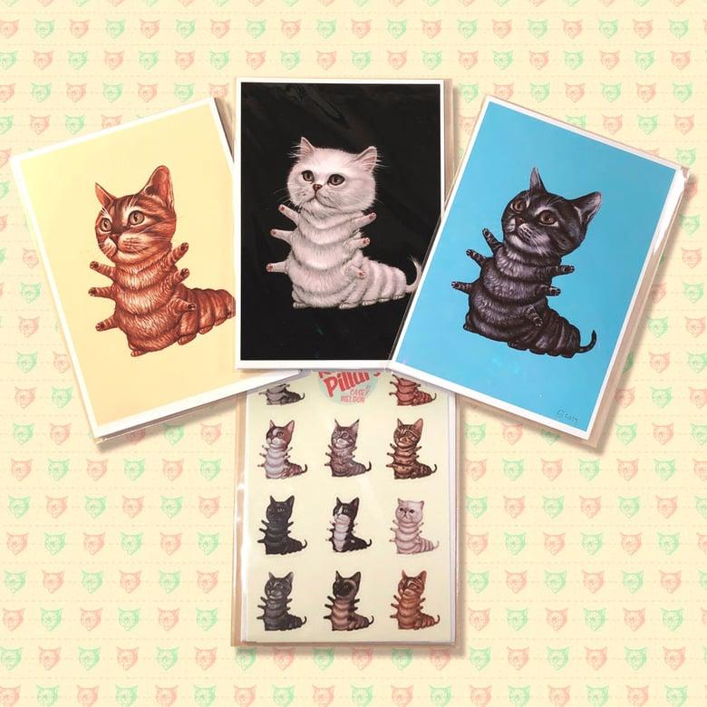 Image of Mini Kittypillar Print and Sticker Sheet Pack