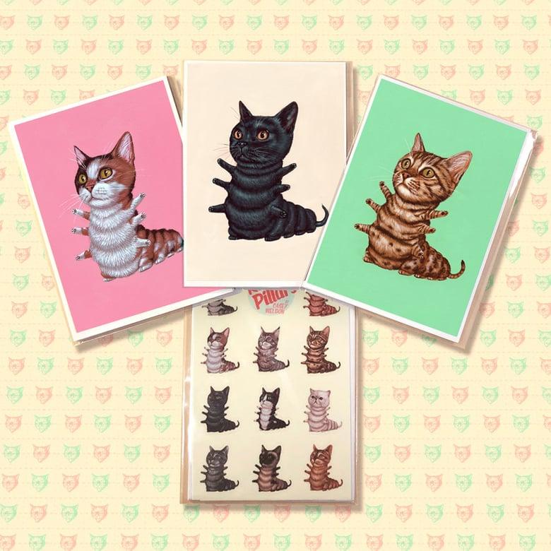 Image of Mini Kittypillar Print and Sticker Sheet Pack SECOND LITTER!