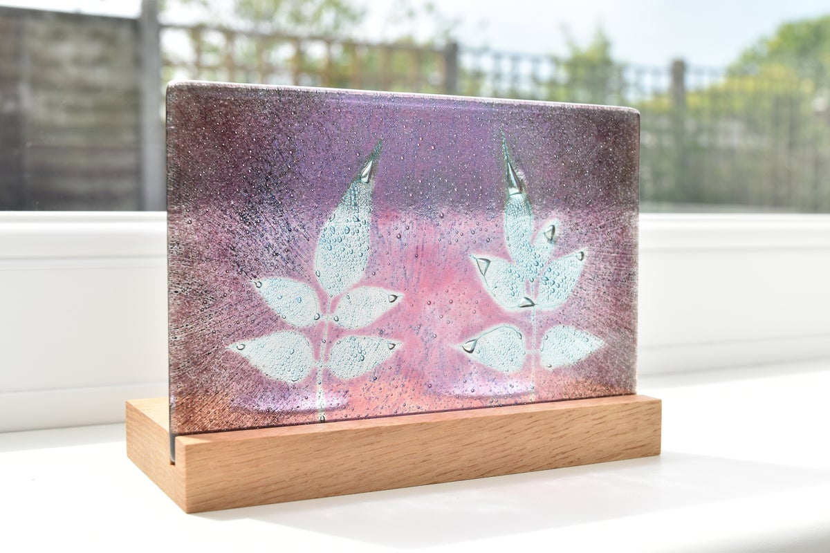Image of Pink and Dark Violet Jasmine Double T-light