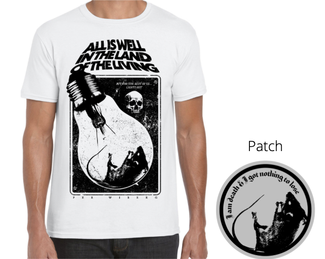 Image of Per Wiberg - All Is Well In The Land... White T-shirt & patch