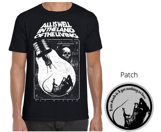 Image of Per Wiberg - All Is Well In The Land... Black T-shirt & patch