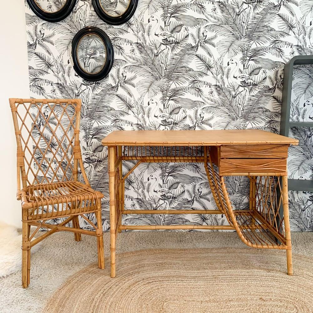 Image of VENDUS/SOLD OUT Bureau et Chaise Flamingo