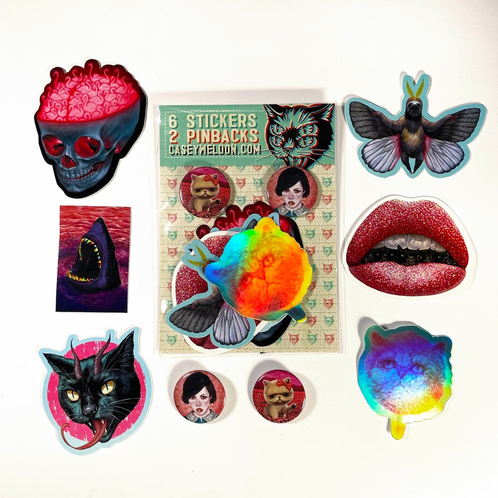 Image of Sticker/Button Pack Volume 2.3 'Cotton Catty Edition'