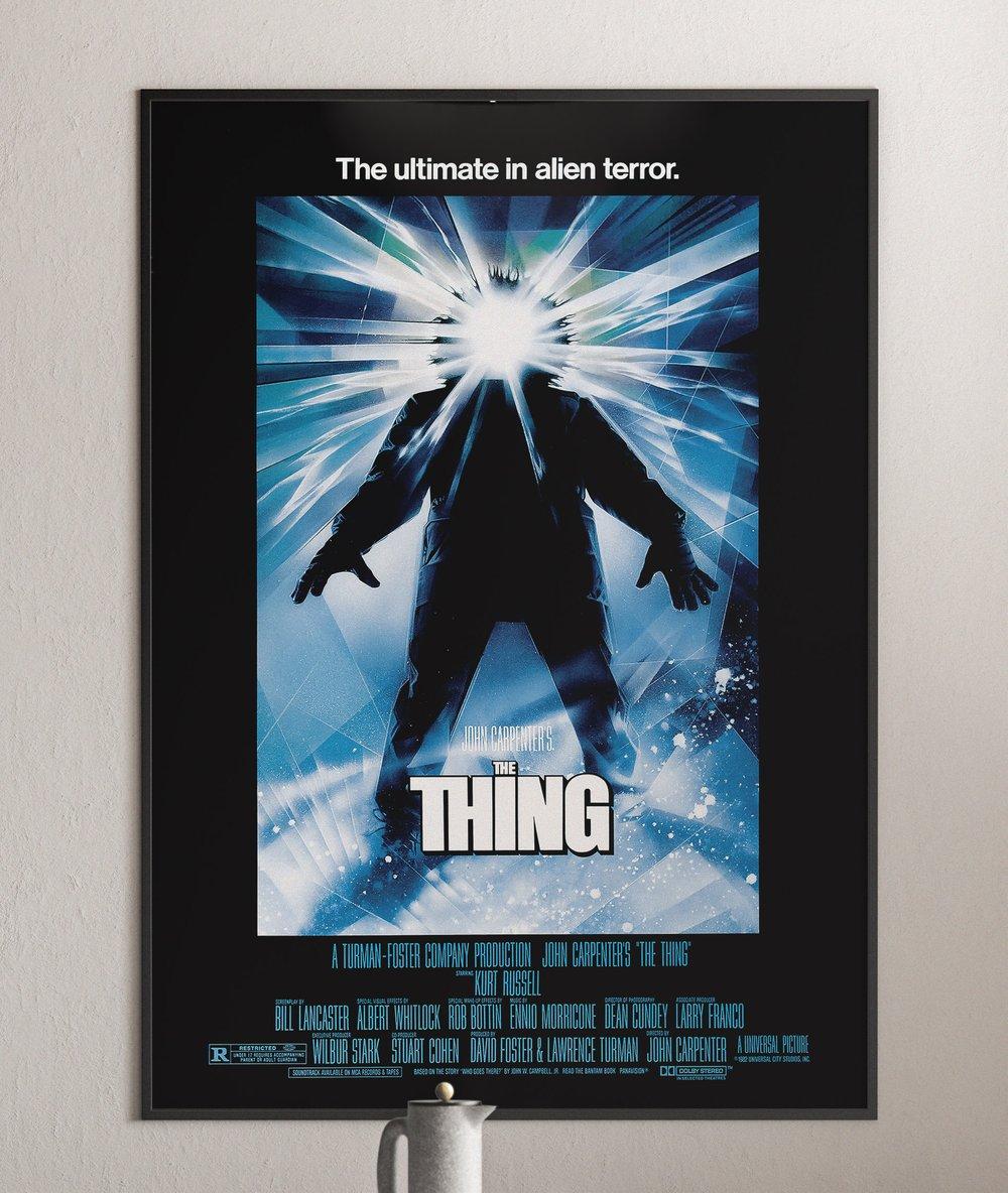 "John Carpenter's ""The Thing"" Movie Poster"