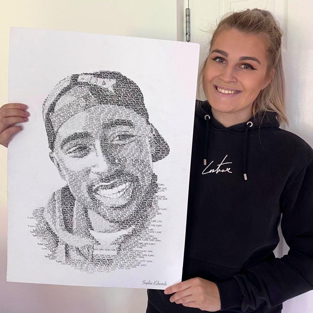 Image of Tupac print