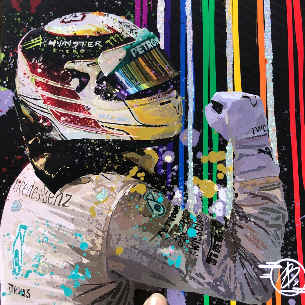 Image of Mc Lewis Hamilton foil print